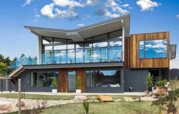 Sloping block architect designed home