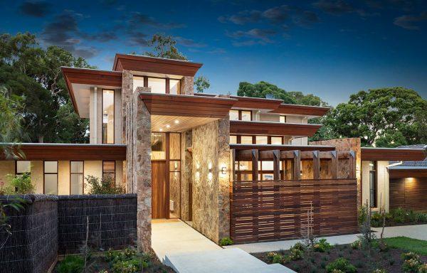 Stone Wall Luxury Custom Home
